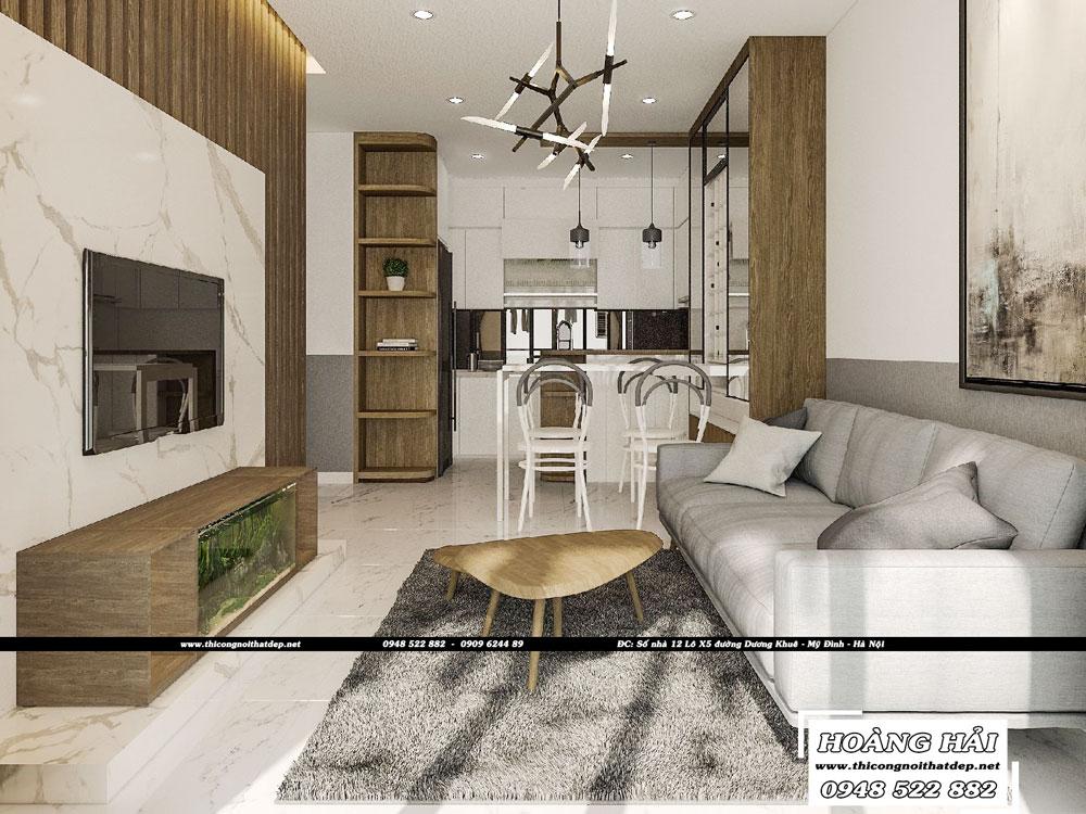 Dự án thiết kế nội thất chung cư Sunrise Cityview 70m2 – Chị Trang