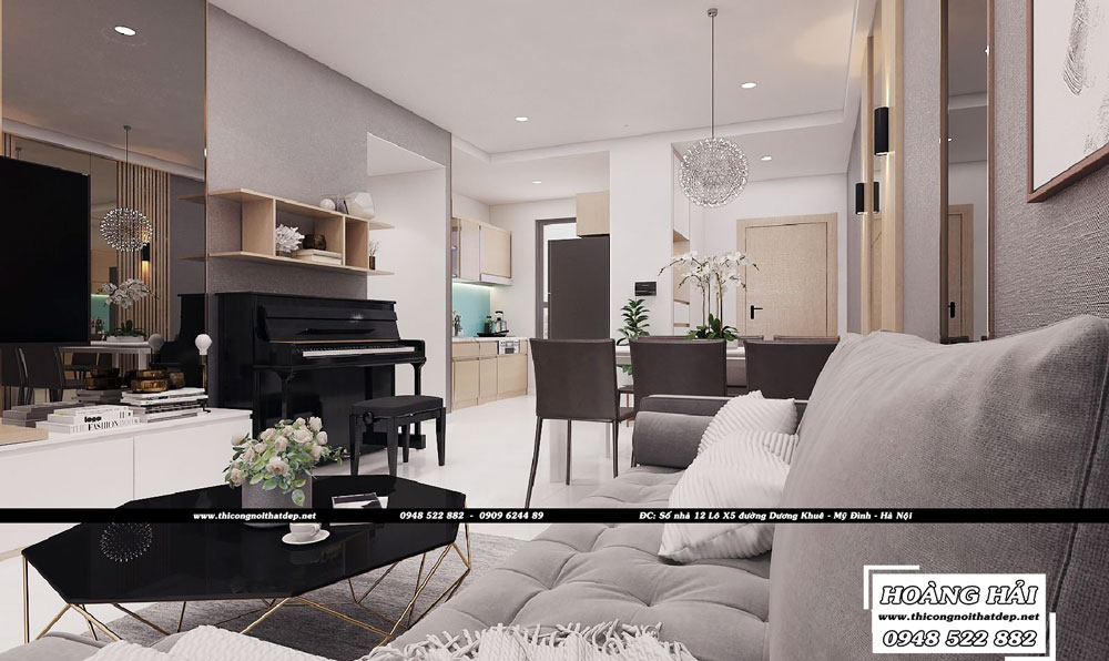 Dự án thiết kế nội thất chung cư Sun Avenue 90m2 – Anh Tân