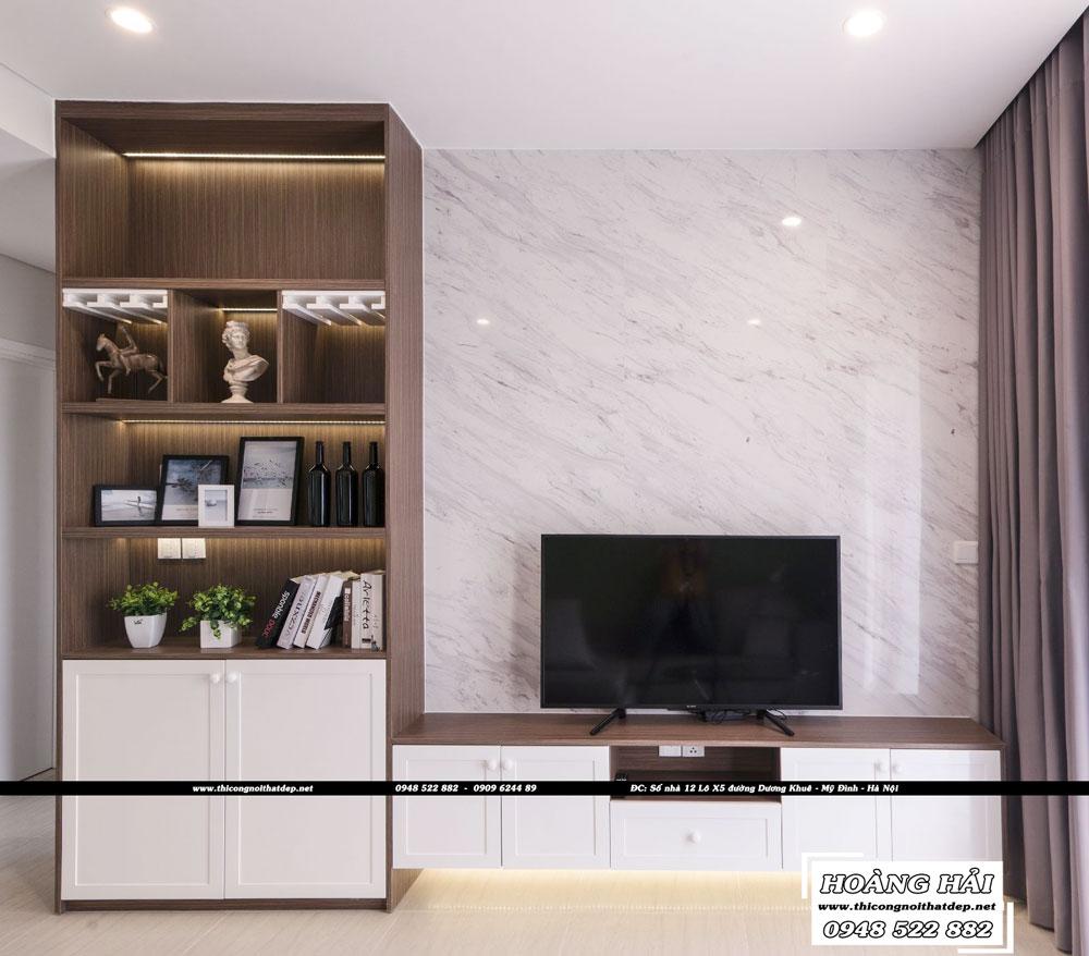 Dự án thiết kế nội thất phong khach chung cư Diamond Island 137m2 - Anh Hiếu