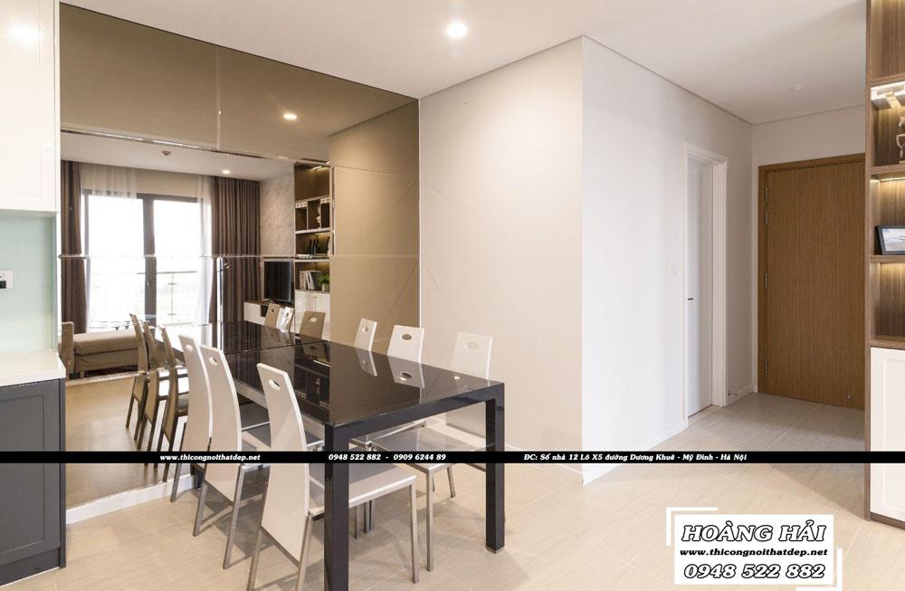 Dự án thiết kế nội thất phòng ăn chung cư Diamond Island 137m2 - Anh Hiếu