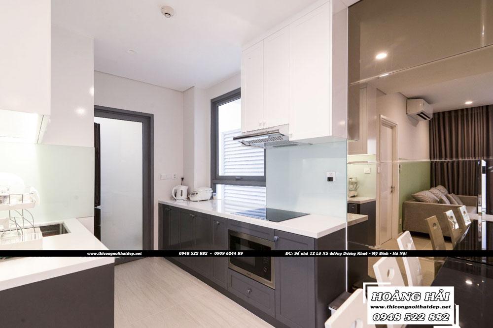 Dự án thiết kế nội thất phòng bếp chung cư Diamond Island 137m2 - Anh Hiếu
