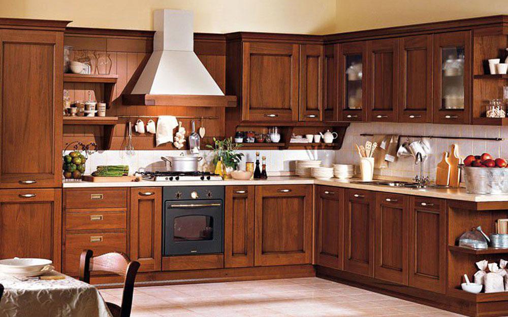 mẫu tủ bếp gỗ xoan đào cao cấp