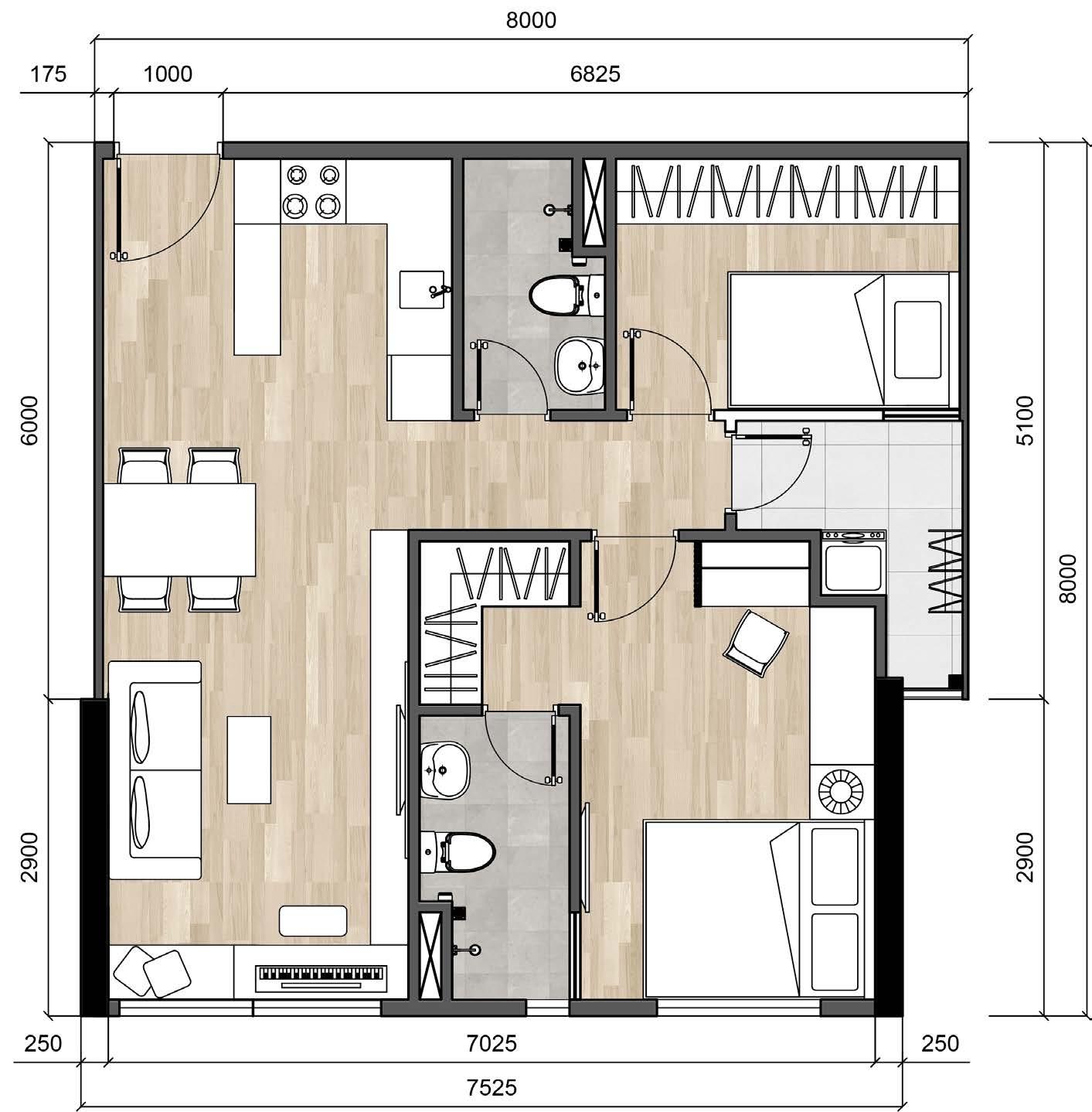 tư vấn thiết kế nội thất căn hộ chung cư CitiHome