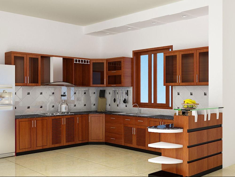 mẫu tủ bếp gỗ xoan đào đẹp