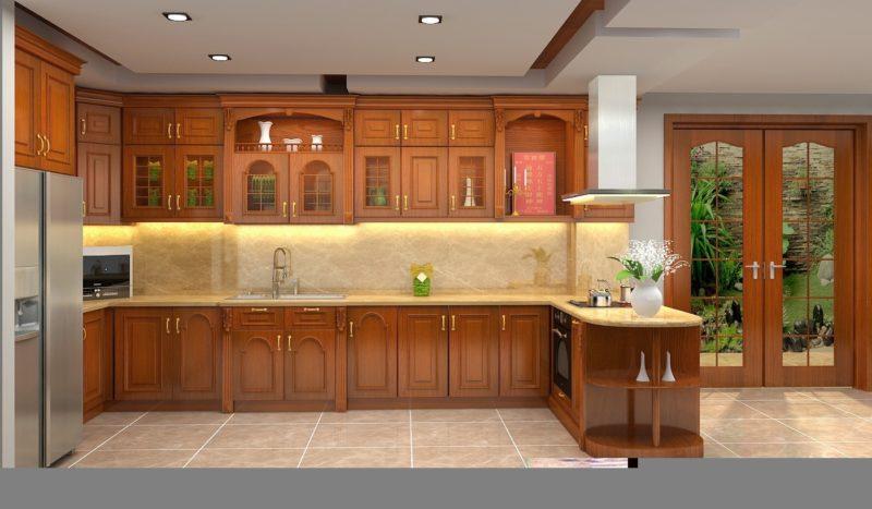 tủ bếp tân cổ điển cao cấp giá rẻ
