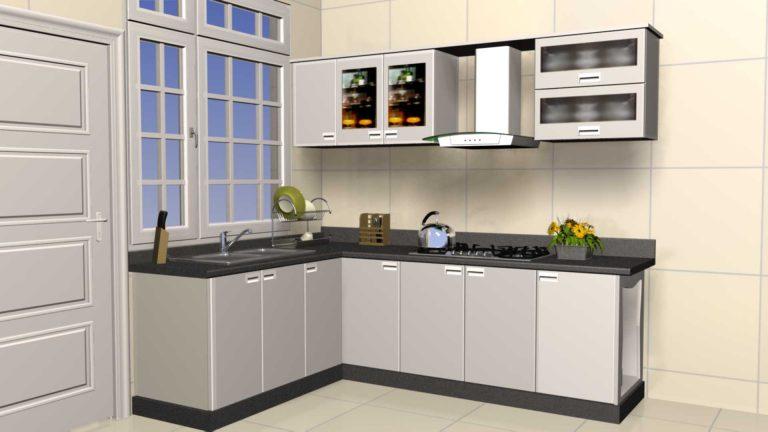 mẫu tủ bếp đẹp 2019 inox